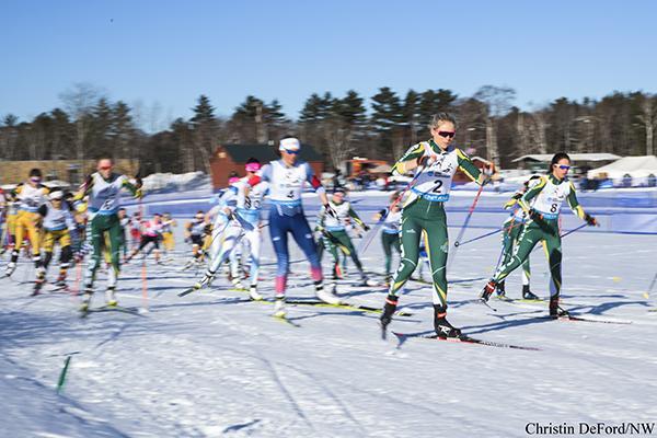The Nordic Ski team participates in a tournament last season.