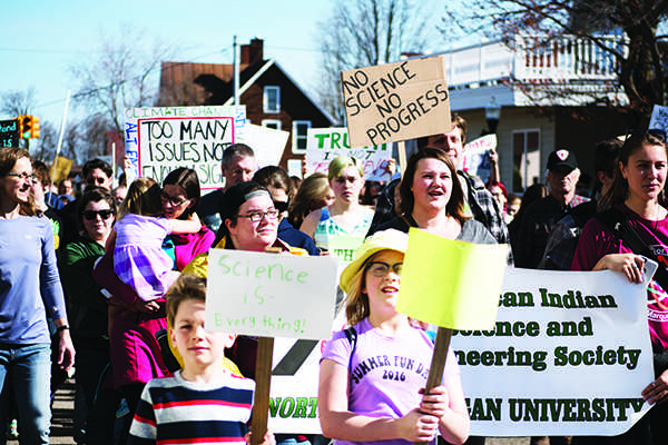 Marquette marches for science