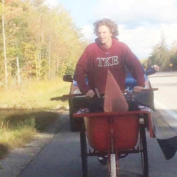 TKE hauls tub to raise money for Lake Superior Hospice