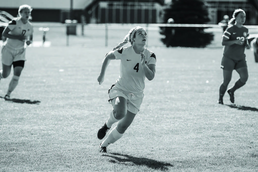 First victory for women's soccer