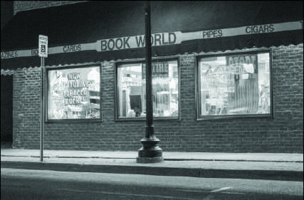 Photo by Lindsey Eaton: Bookworld, pictured above, is closed for the night and soon to be forever. This is one of seven locations in the Upper Peninsula where the store has had a fair amount of success over its years in the community.