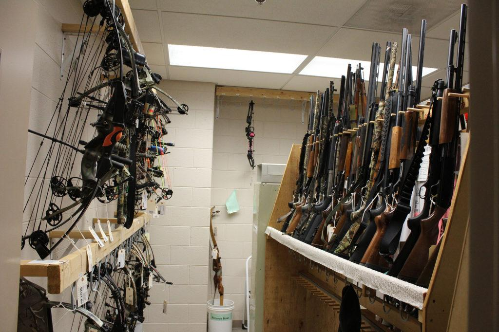 Photo+by+Noah+Hausmann%3A+The+NMU+Public+Safety+%26+Police+Services+currently+houses+about+250+shotguns%2C+rifles+and+handguns+and+about+30+bows+for+student+firearm+owners.