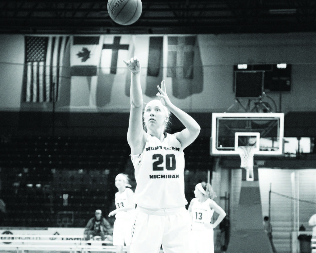 Neil Flavin: In a game from last season, junior guard Darby Youngstrom lines up, and releases a shot from the charity stripe.   Last season, Youngstrom started all 29 games, totaling 885 minutes played.