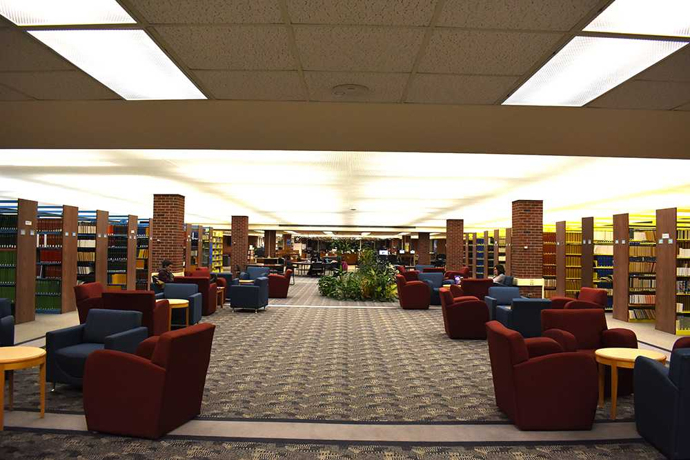 Photo by Lindsey Eaton: The second floor of the LRC building and first floor of the Lydia Olson Library will feature many improvements during the renovation including additional group study rooms.