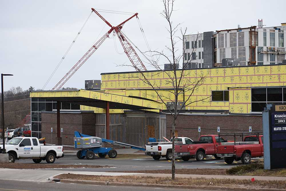 Photo by Lindsey Eaton: The Legacy building, pictured above, will be given a new name once construction is complete. The inside will house a research center for cancer exercise that will be led by NMU's School of Heath and Human Performance.