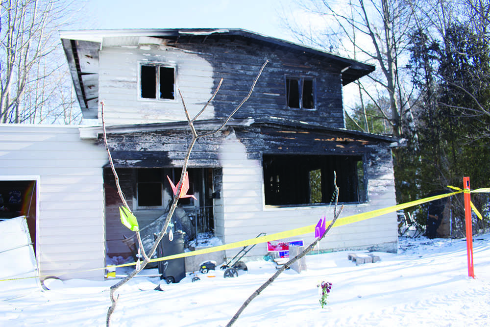 The house that caught on fire at 1026 Lincoln Ave. on Monday, Jan. 8. The fire claimed the lives of Krista Urbanc and Zachary Johnson. Photo by: Lindsey Eaton