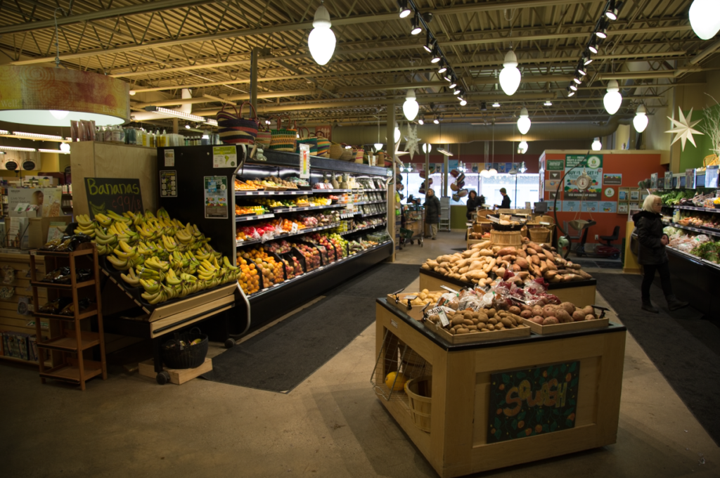 A variety of nutritional produce found at The Marquette Food CO-OP.