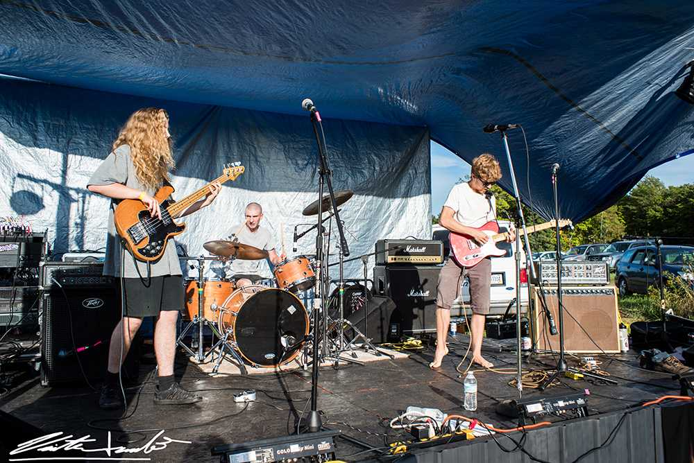 The God Eaters, a local psychedelic punk rock band, shreds guitars and pounds drums on stage. The band will perform again, along with music groups The Muldoons and 34C, at the Ore Dock Brewing Co. at 8 p.m. tonight. Photo courtesy of Victor Lerulli II