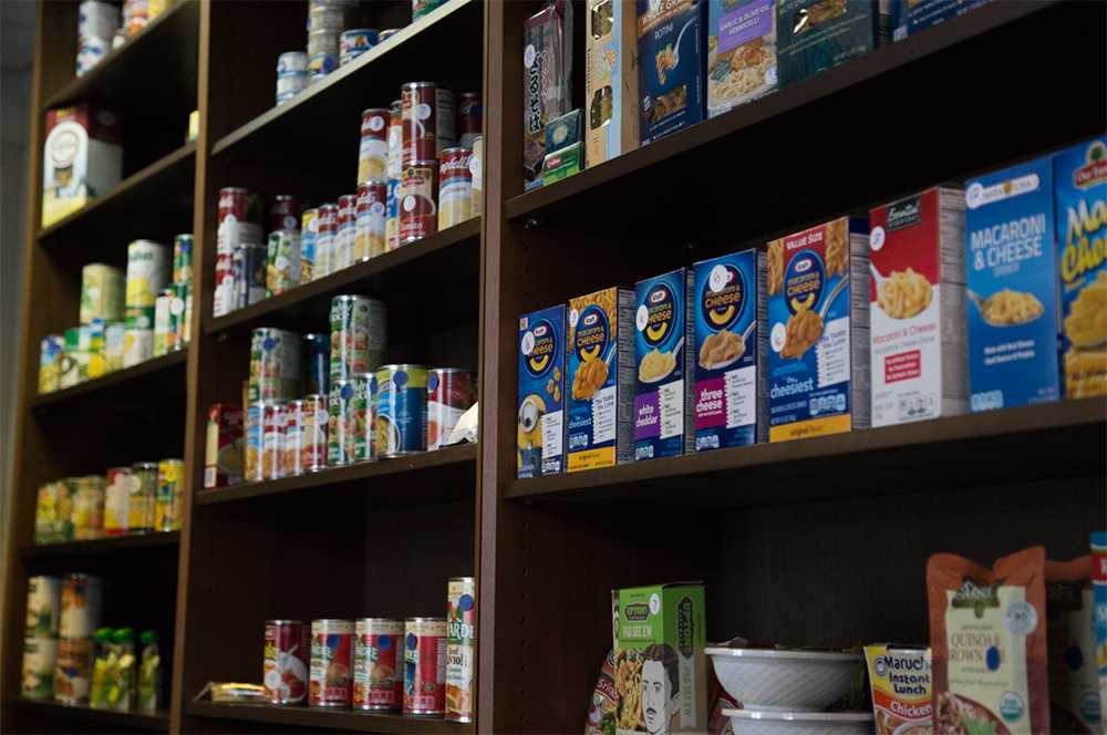 The NMU Food Pantry is available to students, faculty and staff, however it is not offered to community members. Donations can be dropped off at the ASNMU and Student Support Services offices. Photo by: Neil Flavin