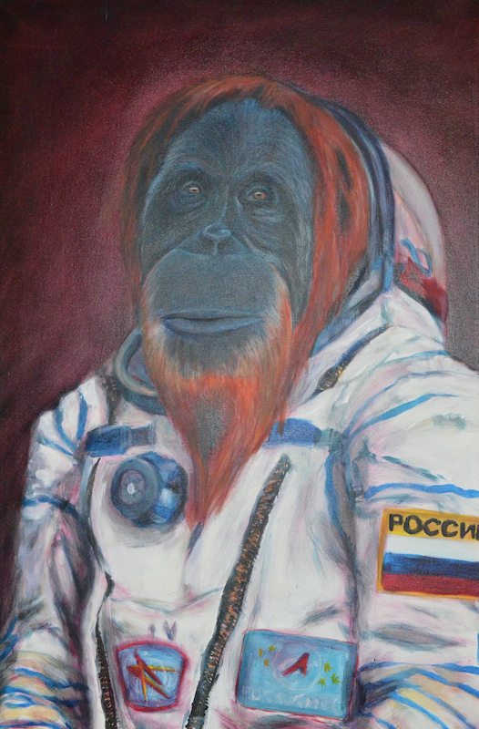 Not Monkeying around: NMU alumnus' paintings featured at Ore Dock Brewing Co.