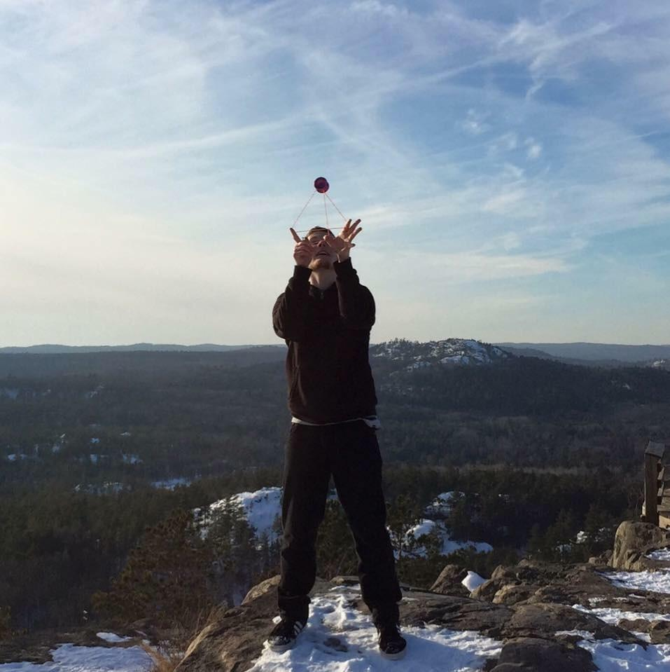 NMU sophomore engineering design major Jordan Walker-Jenkins showcases his yo-yo skills, which he has practiced since 2011, to prepare for the National Return Top Championships held in Toronto, Ontario this May.  Photo courtesy of Jordan Walker-Jenkins