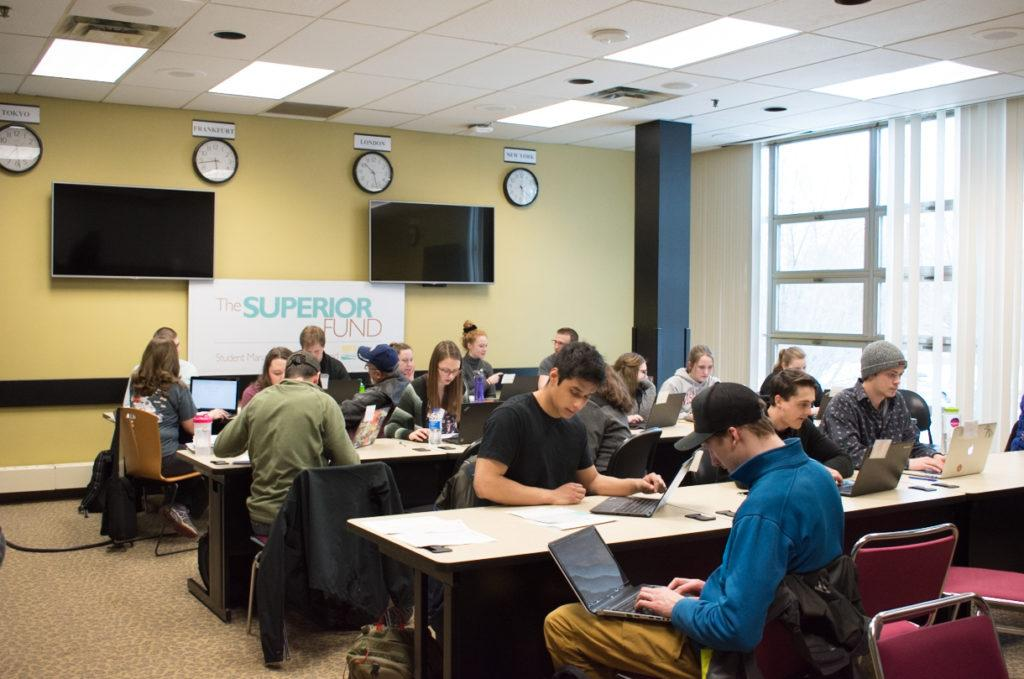 Students and community memebers work with accounting, finance and computer informational systems majors to complete their tax returns. They will meet every Tuesday and Thursday untill April 12.