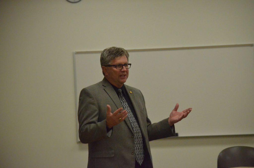 Sen. Casperson speaks to community