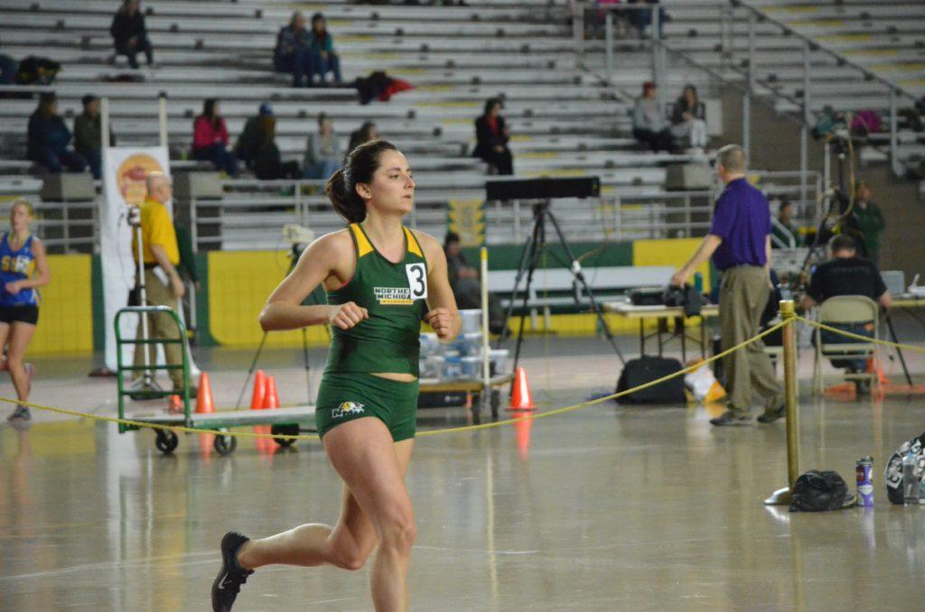 Junior track and field distance runner Abby Fifarek looks to build upon last season's success and earn multiple individual records this spring at Northern Michigan University. Photo by Lindsey Eaton