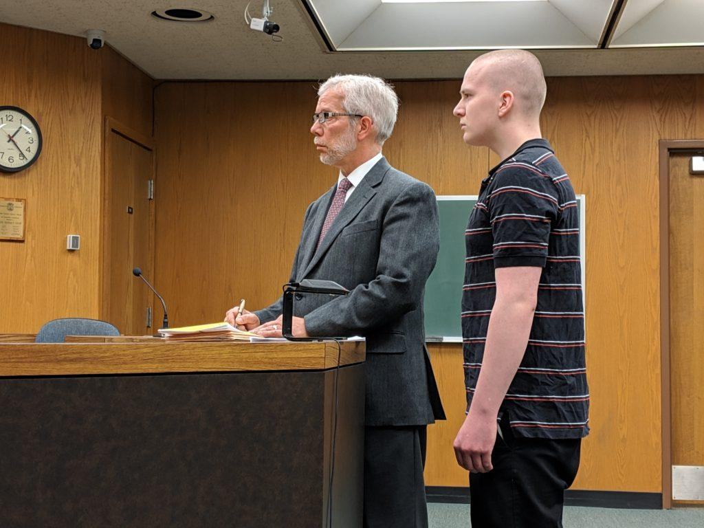 Caleb S. Anderson was arraigned March 21 upon six counts of fourth-degree criminal sexual conduct and released March 25 on a personal recognizance bond.  Photo by Tim Eggert