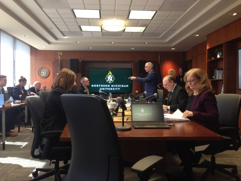 Board of Trustees (BOT) Chairman Robert Mahaney addresses the board at its meeting on May 3, where BOT members reflected on accomplishments of the 2018-2019 academic year and future plans. Mary McDonough/NW