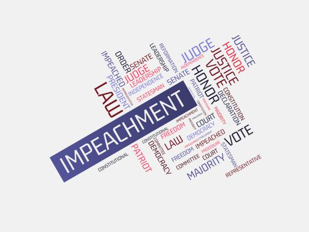 - IMPEACHMENT - PRESIDENT - image with words associated with the topic IMPEACHMENT, word cloud, cube, letter, image, illustration