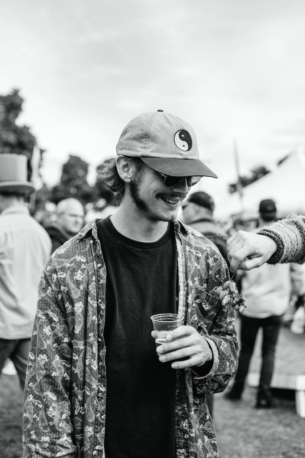 LOCAL BREWS—Marquette resident, Lucas Dishinger, enjoys a beer outdoors. The U.P. Fall Beer Fest hosted 101 beer vendors and over 4,000 attendees on Saturday. Photo courtesy of Rachel Haggerty
