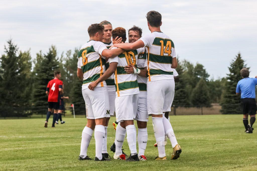 POSTSEASON+OPPORTUNITIES%E2%80%94With+Senior+Weekend%2C+NMU+Men%E2%80%99s+Soccer+team+gets+ready+to+execute+in+last+home+games+of+the+season.+Photo+courtesy+of+NMU+Athletics.