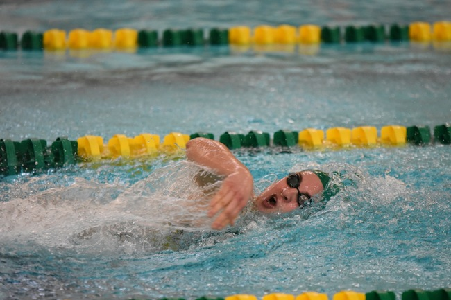 ALL ABOARD—NMU Swim and Dive is on the rollercoaster to NCAA Championships as its tough stretch begins. Photo courtesy of NMU Athletics.