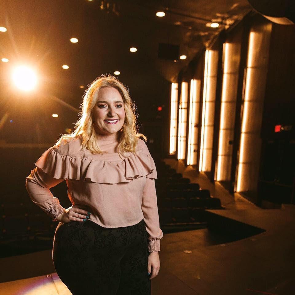STAR SPANGLED VOCALS—Senior theater major AJ Stephens awaits her debut performance for NMU hockey.