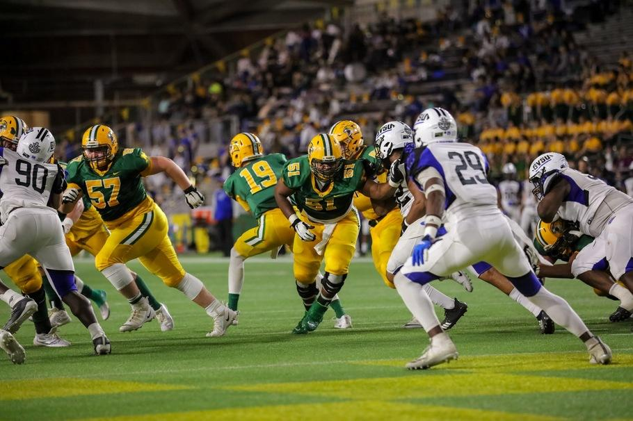 CLAWING FOR A WIN—The Wildcats fell 28-10 to Northwood to drop to 1-7 on Saturday, Nov. 2. NMU has two more games to break the streak. Photo courtesy of NMU Athletics.