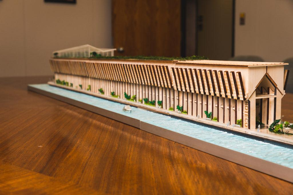 GRAND PLANS—A model of the planned BotEco Center was created by the NMU art department to aid in the project's completion.