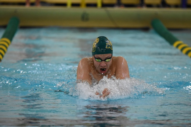 SWEEPING THE POINTERS—Both NMU Swim and Dive teams had impressive victories over the University of Wisconsin-Stevens Point (UWSP) Pointers. Photo courtesy of NMU Athletics