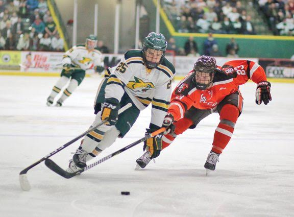 SENIOR NIGHT—With immense pressure, the Wildcats enter battle with Tech on Friday night. NMU needs a victory to clinch home ice in the first round of the WCHA Tournament. Photo courtesy of NMU Athletics.