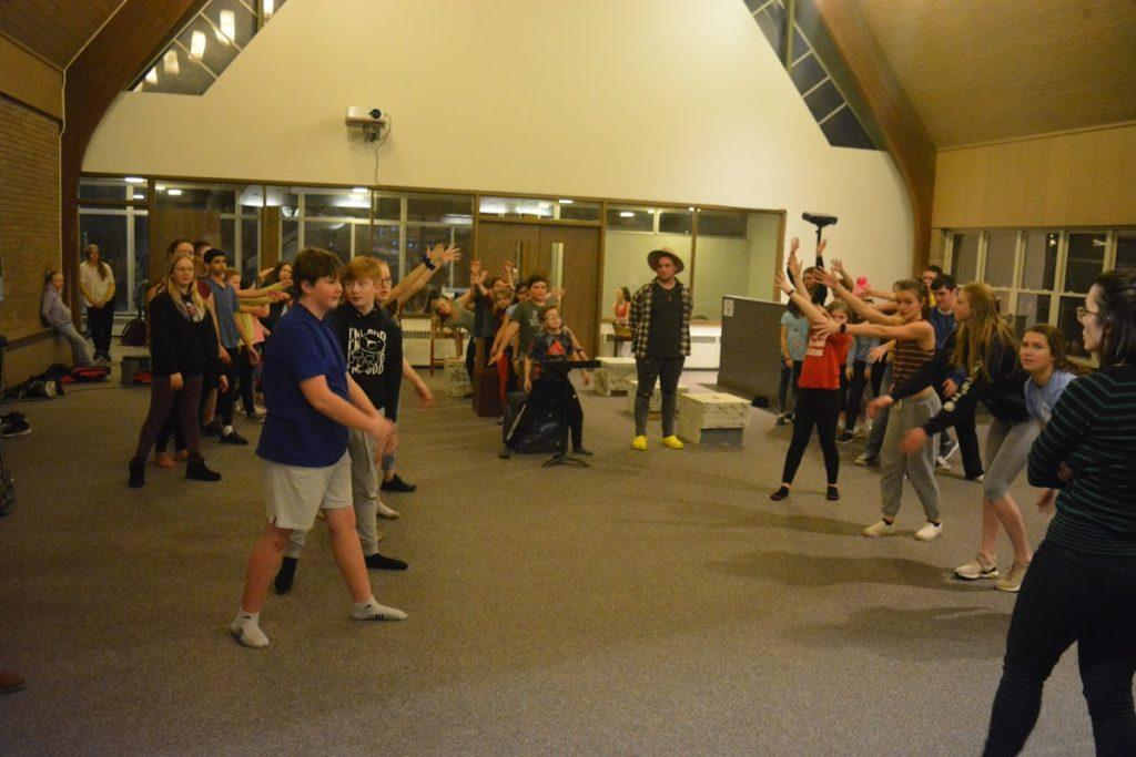 """MAKING MAGIC HAPPEN—Young students rehearse for their upcoming production of """"Matilda the Musical,"""" which will take place at NMU's Forest Roberts Theater."""