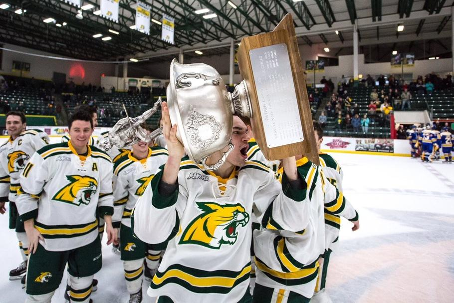 TROPHY+GAME%E2%80%94Last+year%2C+the+Wildcats+won+the+Cappo+Cup+with+a+series+victory+over+LSSU%2C+and+the+trophy+is+back+on+the+line+this+weekend+in+Sault+Ste.+Marie.+Photo+courtesy+of+NMU+Athletics.