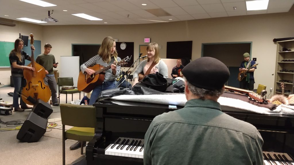 Photo+courtesy+of+Mark+Shevy%0AJAMMIN%E2%80%99+TO+FOLK%E2%80%94+Kerry+Yost+%28left%29+local+musician+and+Jackie+Jahfetson+NMU+alum+rehearse+for+their+performances+in+the+Winter+Roots+Folk+Festival+at+the+sound+studio+in+McClintock+on+campus+on+Sunday%2C+Jan.+26.