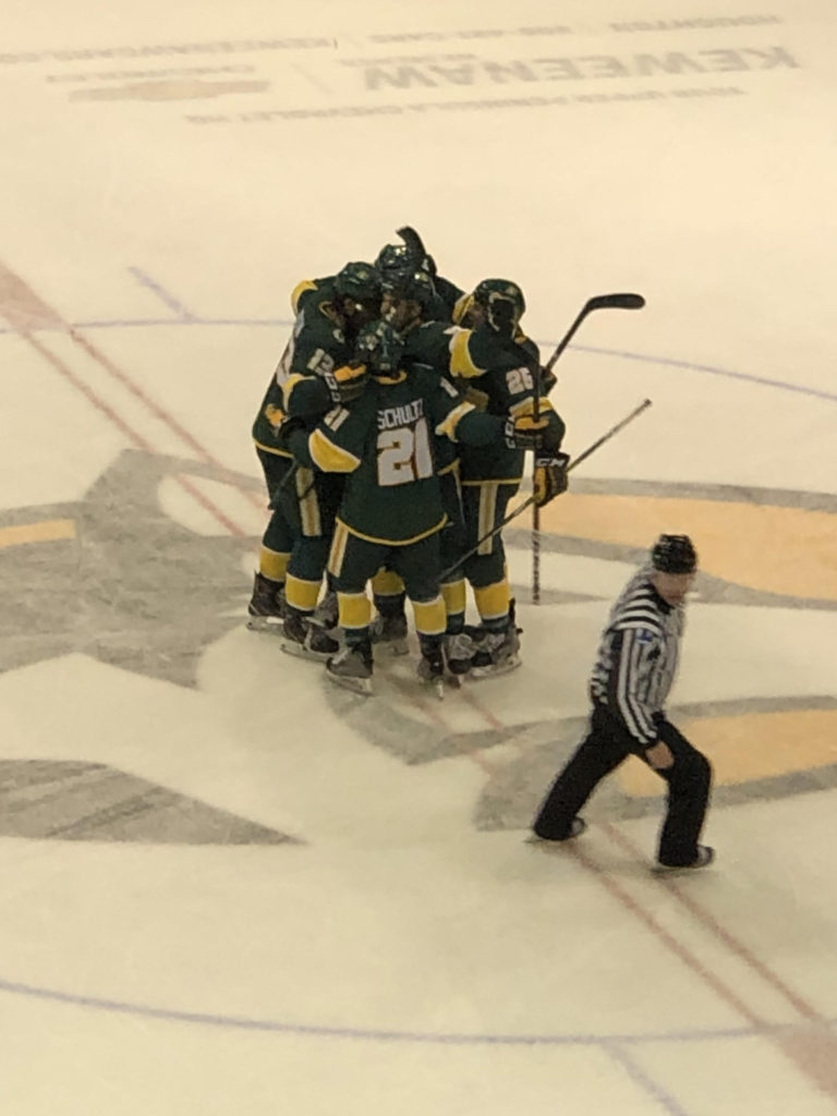 JOINING THE RANKS—With the seasons start uncertain, the Wildcats are receiving votes in the USCHO polls. NMU is coming off of a 18-16-4 season, but have a lot of experience coming back. Travis Nelson/NW