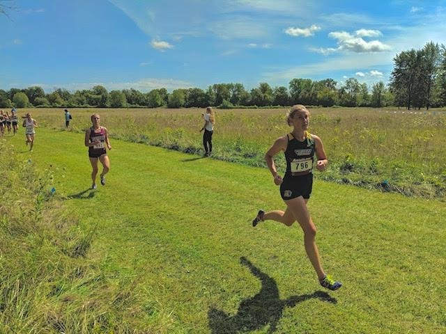 Photo courtesy of Elise Longley; SPRING SILVER LININGS- Despite the fall season being canceled, senior Elise Longley and her team continue to prepare for the spring track season.