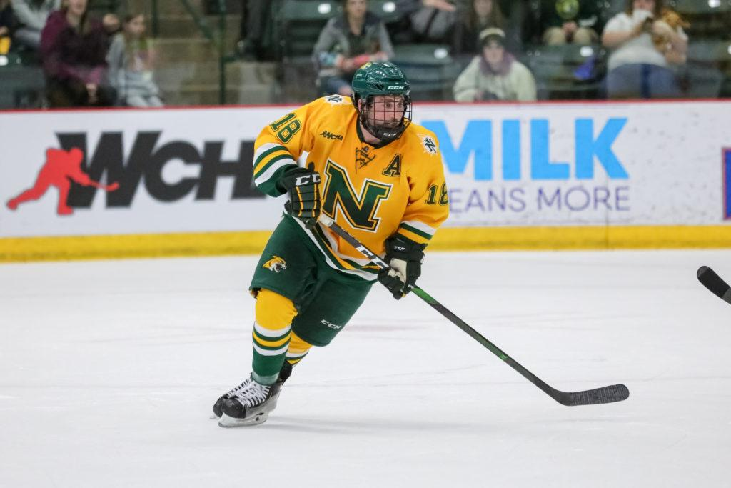 A TEAM OF VETERANS—The Wildcats enter 2020-21 returning a majority of their goals from last season after losing three players to graduation. Led by captains senior forward Joseph Nardi and senior defenseman Ben Newhouse, NMU is filled with veteran players.