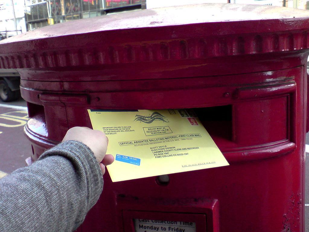 mailing a ballot