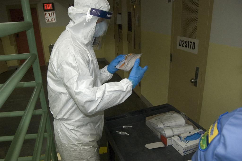 Doctor prepares COVID-19 tests