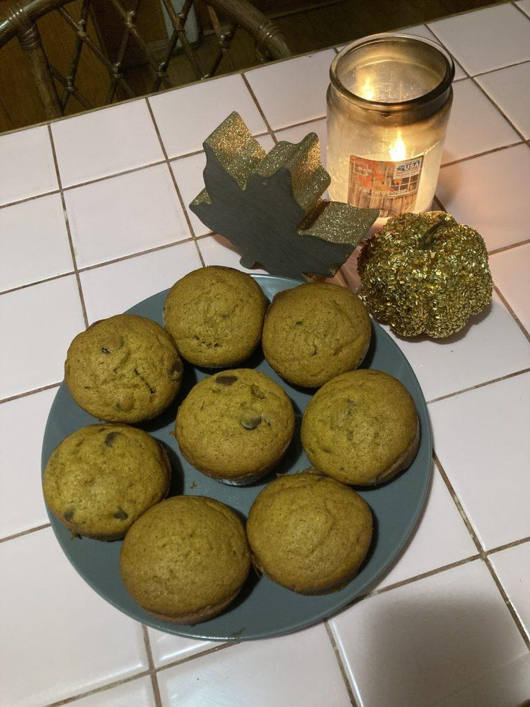 cookies lit by candles