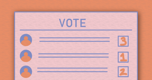 Graphic of a voters ballot