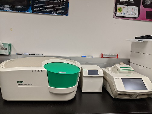 Picture of equipment used to test