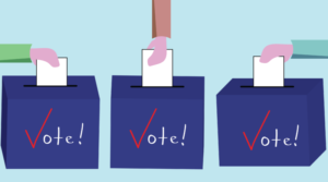 Graphic of voting boxes