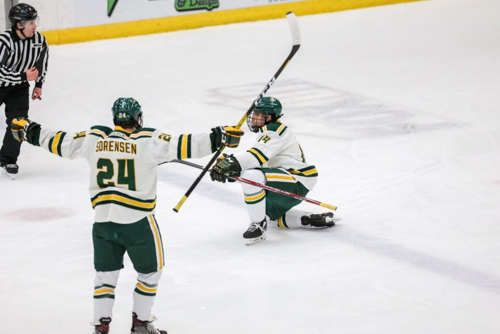 LAKE STATE IS ON THE CLOCK—The Wildcats have a season to look forward to now with the release of its 2020-21 season schedule, with the first game taking place on Wednesday, Nov. 25, at home against Lake Superior State. Photo courtesy of NMU Athletics.