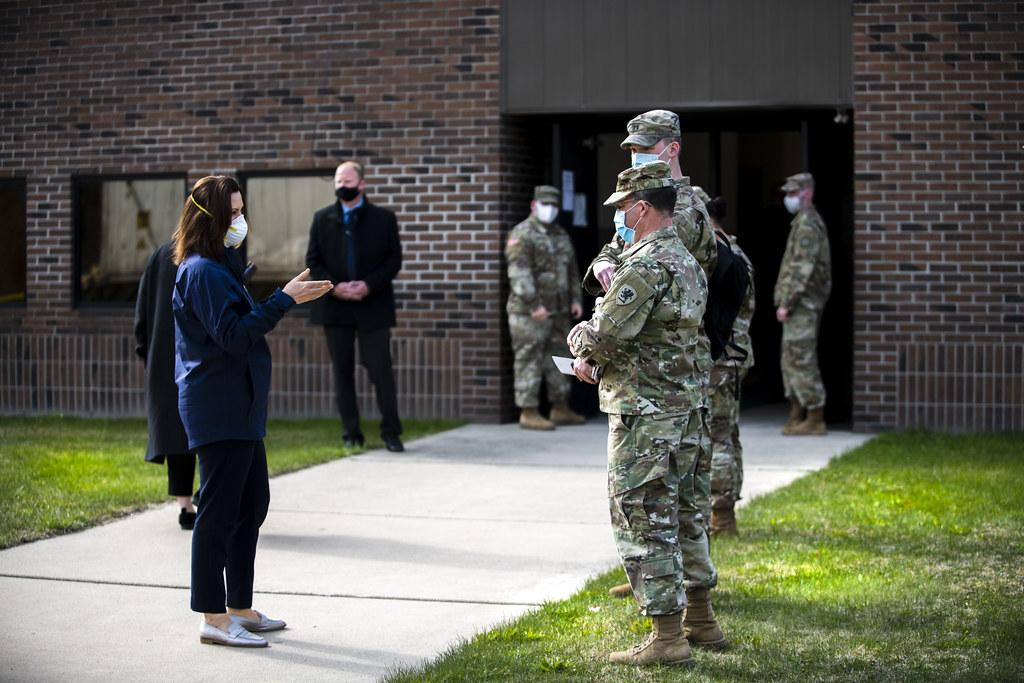 Whitmer+with+National+Guard
