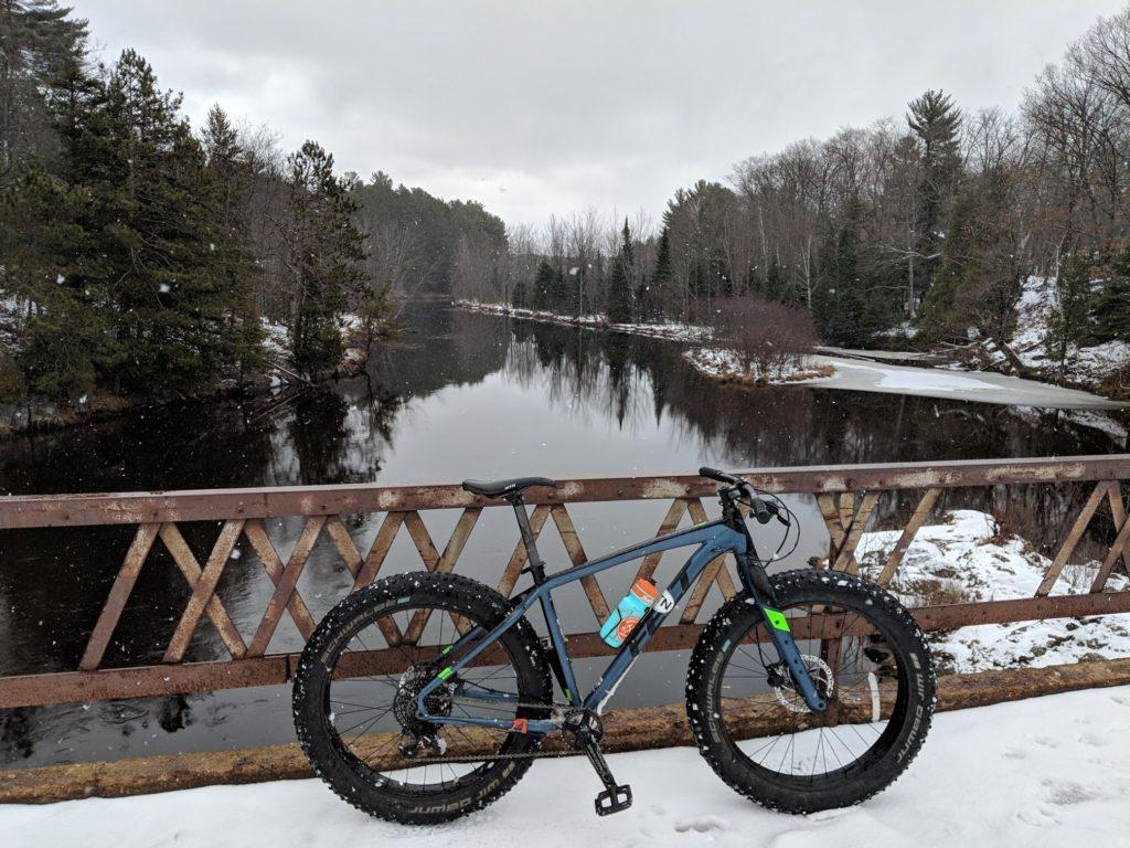 A WINTER FAVORITE—Fatbiking has recently become a winter trend in Marquette. NMU Campus Recreation and Fitness Manager Katie Moe said that its become more surprising to see people who are not fatbiking. Photo courtesy of NMU Rec Sports.