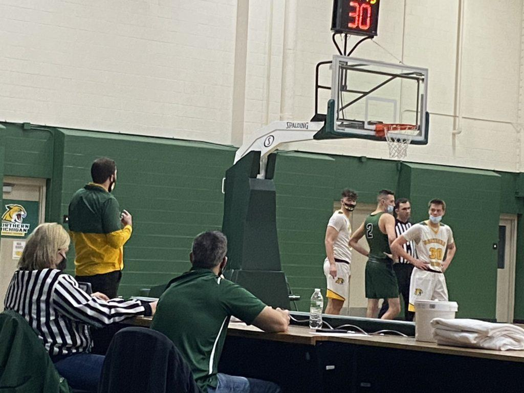 The NMU Mens basketball team plays their game at UW-Parkside. They were unable to defeat them losing 72-55.