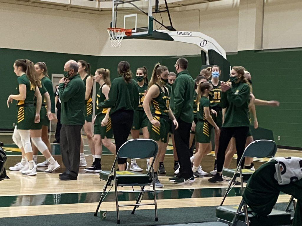 CATS BOUNCING BACK—After making both offensive and defensive adjustments, the NMU Womens Basketball team earned a split with Saginaw Valley State University this past weekend. Travis Nelson/NW