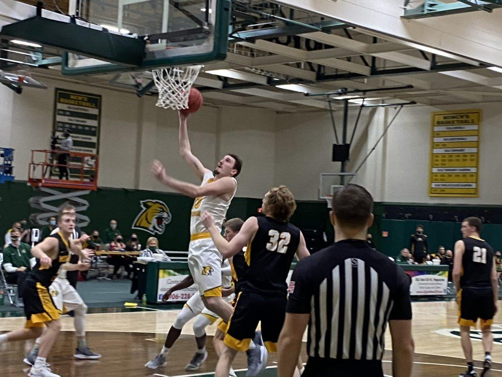 CONTRAST OF STYLES—The NMU Mens Basketball team welcomes in Lake State this weekend, an opponent is almost completely opposite of the Wildcats. NMU plays tough defense and has struggled offensively, where the Lakers score a lot of points but give up a lot as well. Travis Nelson/NW