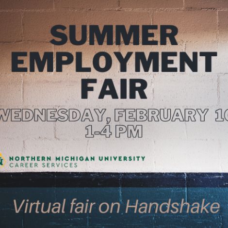 Graphic containing information about the Summer employment fair