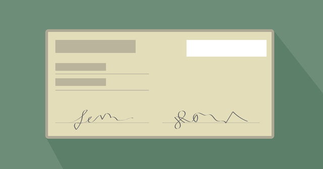 A graphic of a check