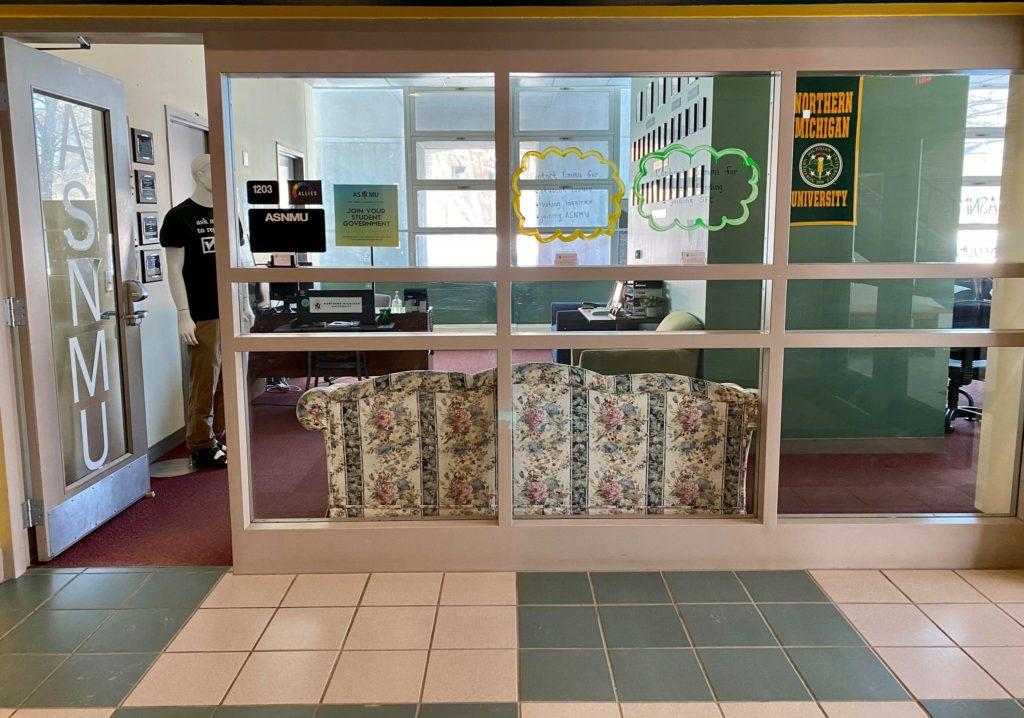 A picture of the ASNMU office located at room 1203 in the University Center.